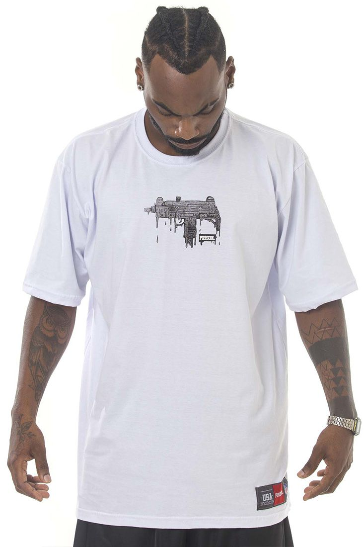 Camiseta Prison Uzi Melted Branca