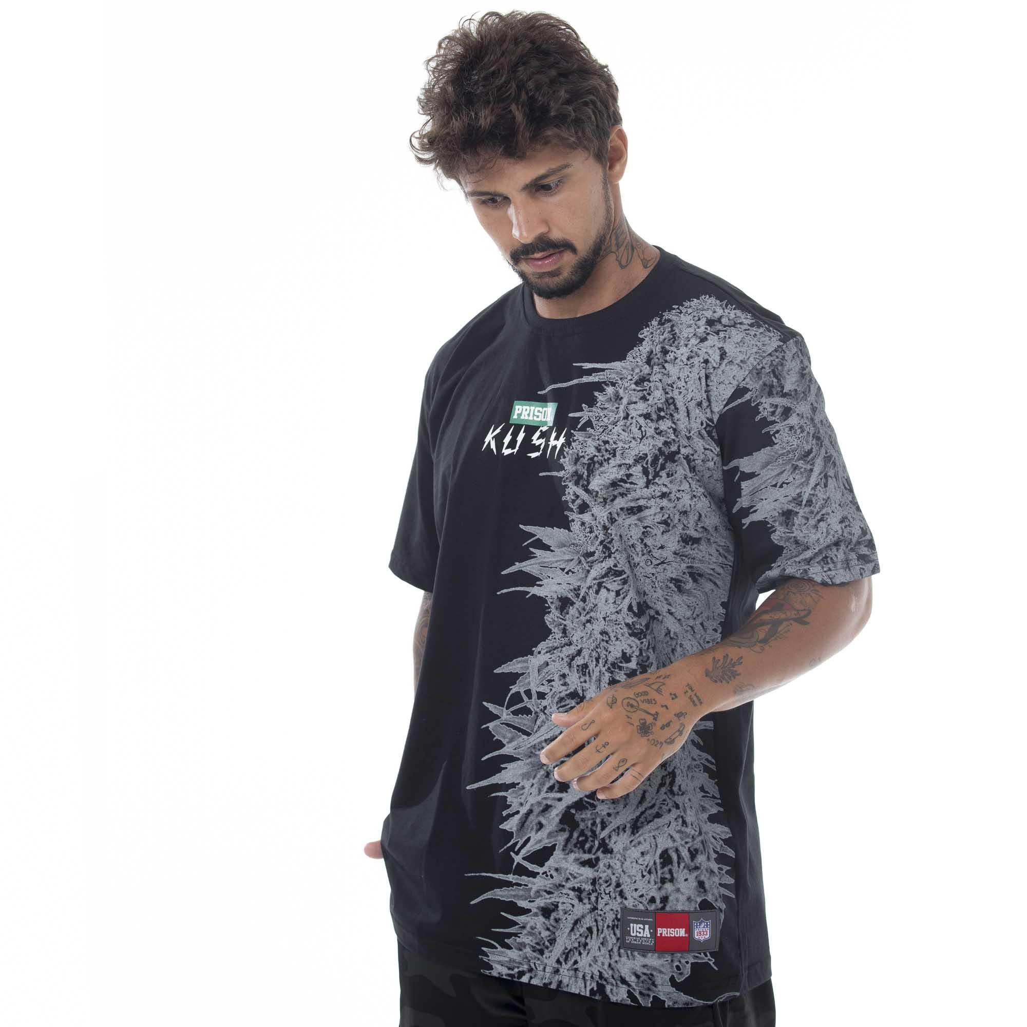 Camiseta Prison Vertical Kush Preto