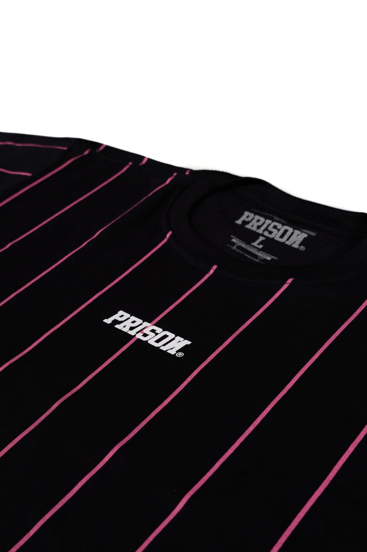 Camiseta Prison Vertical Pink Lines