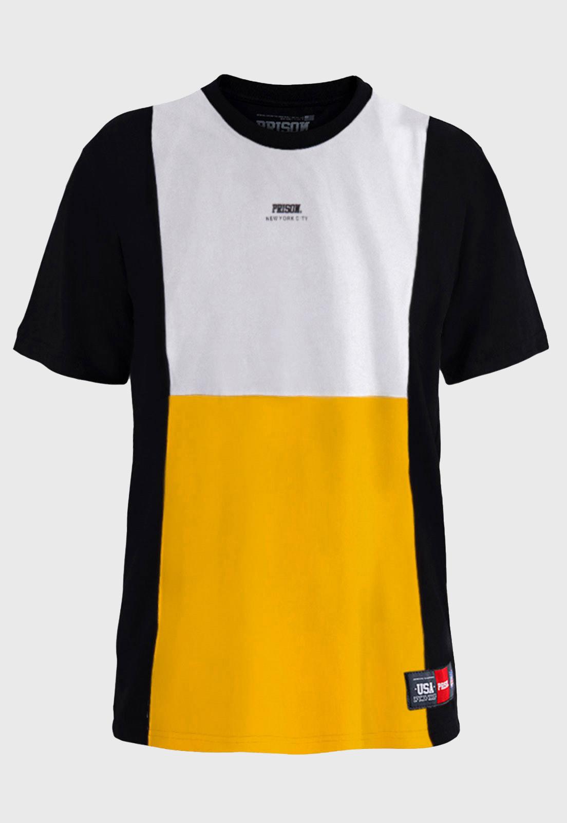 Camiseta Prison Yellow and White Plain