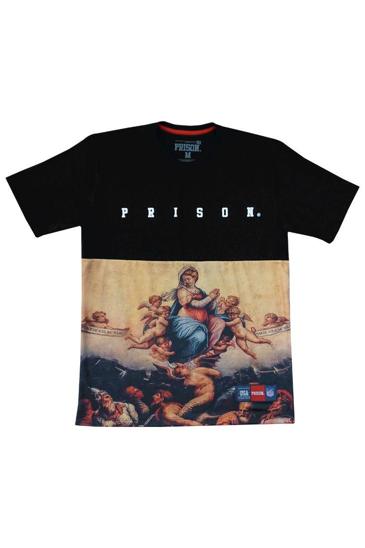Camiseta Prison Young Angels Preta