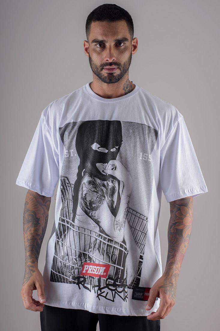 Camiseta Pure Gangster Prison Branca