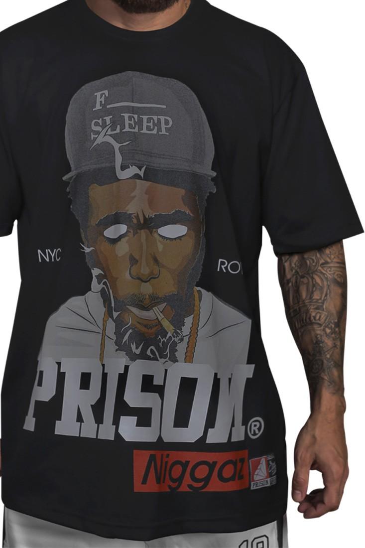 Camiseta Rap Niggaz Prison Preta