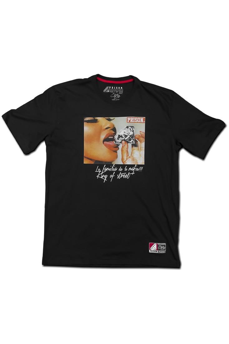 Camiseta Streetwear Prison diamond Preta