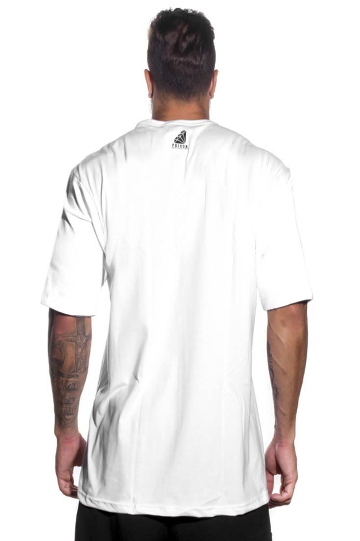 Camiseta Streetwear Prison Diamond Branca