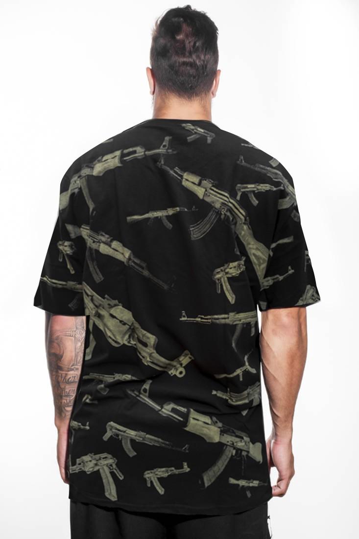 Camiseta Street Ak Prison Preta