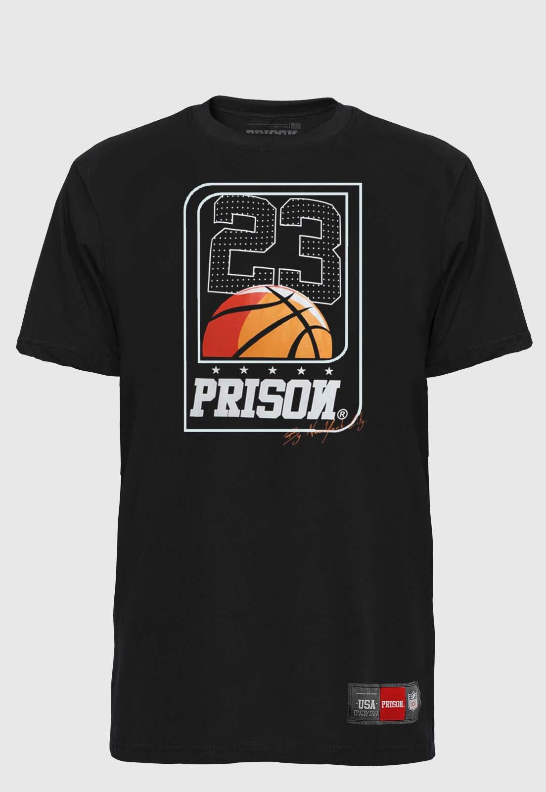 Camiseta Streetwear Prison Basketball Card 23
