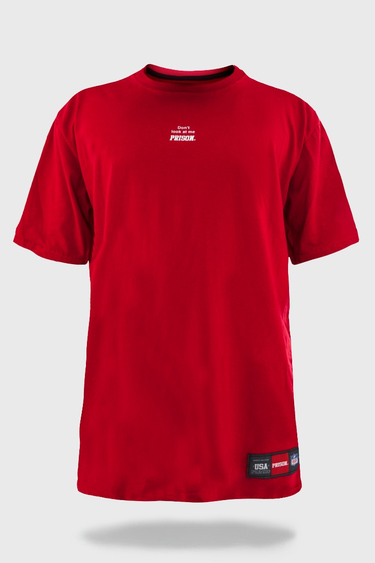 Camiseta Prison Warning red