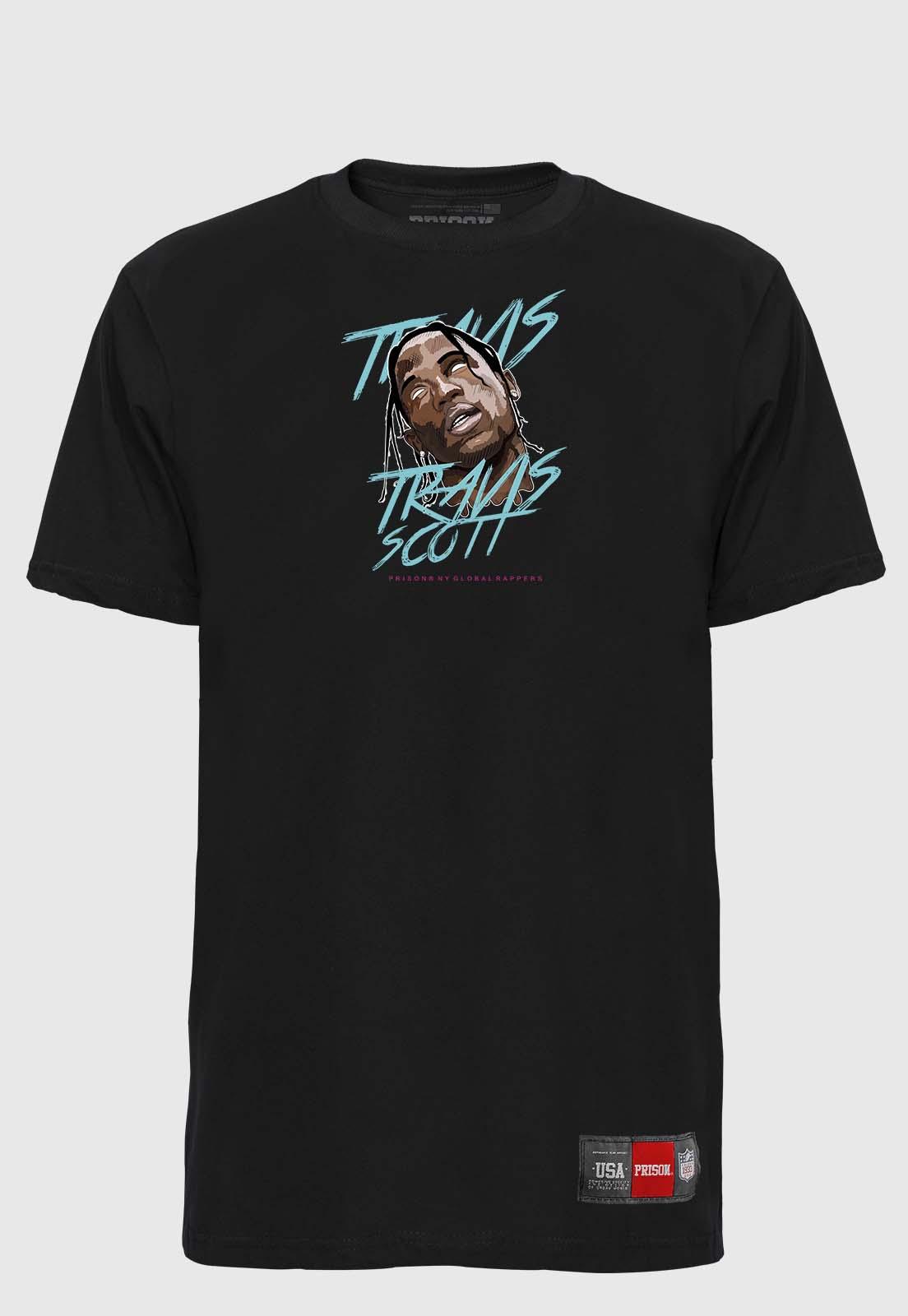 Camiseta Streetwear Prison Global Rappers Travis Scott