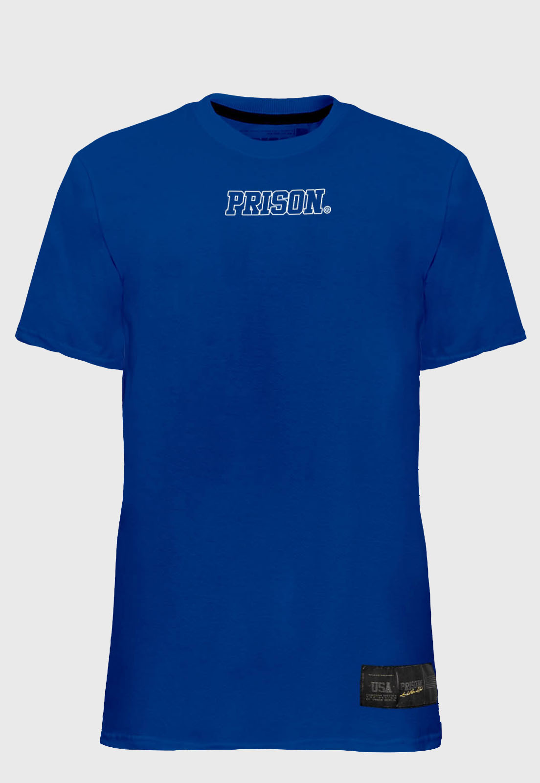 Camiseta Streetwear Prison Logo Blue