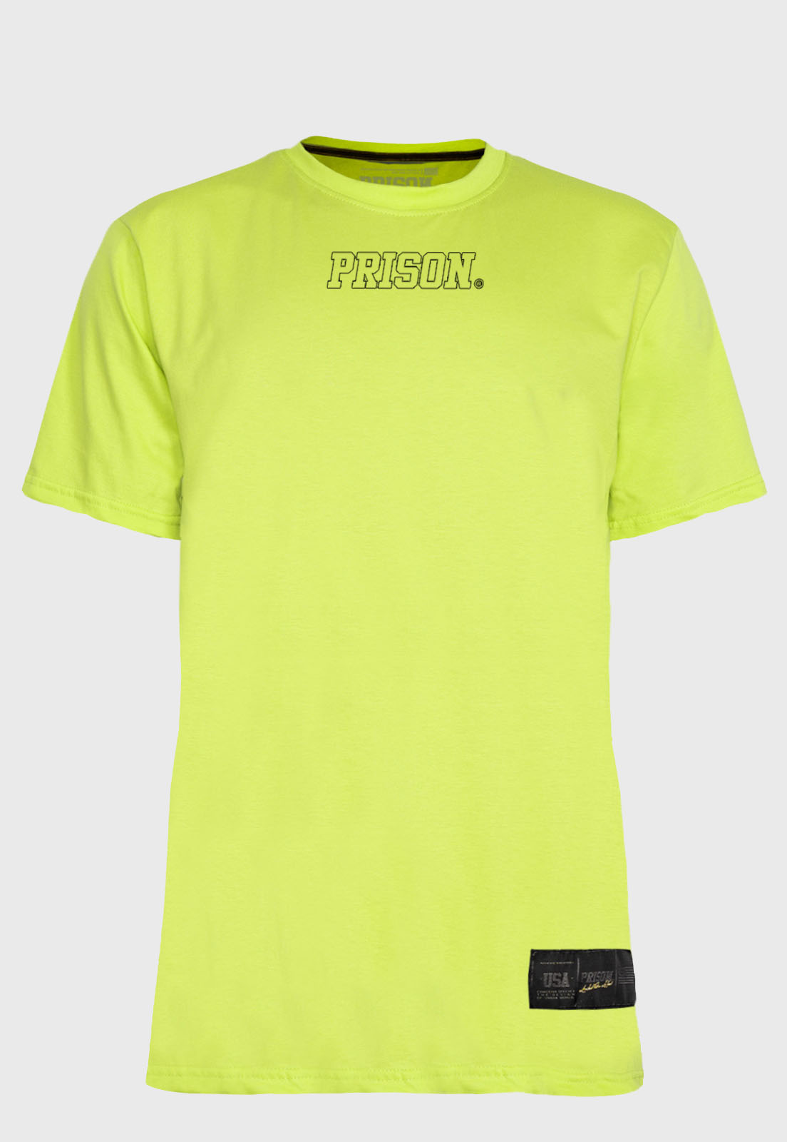 Camiseta Streetwear Prison Logo Green