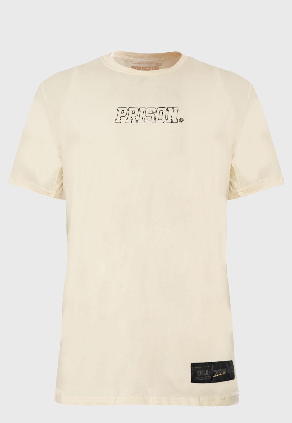 Camiseta Streetwear Prison Logo Off-White