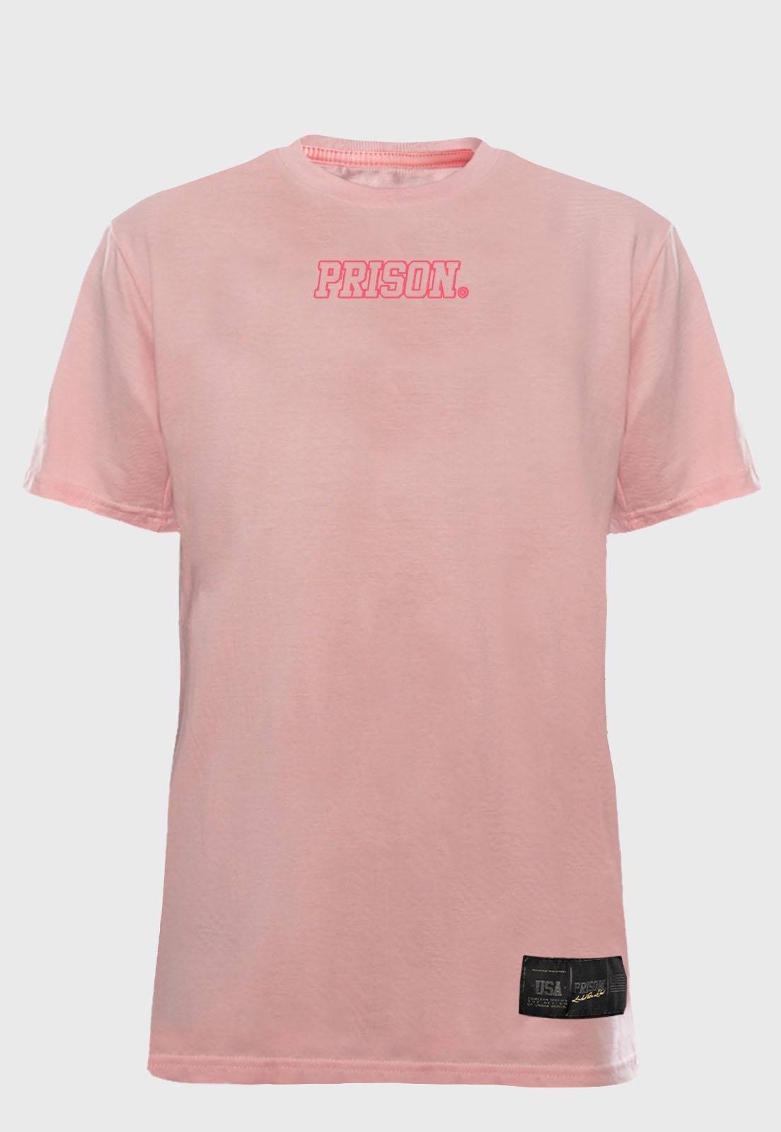 Camiseta Streetwear Prison Logo Pink