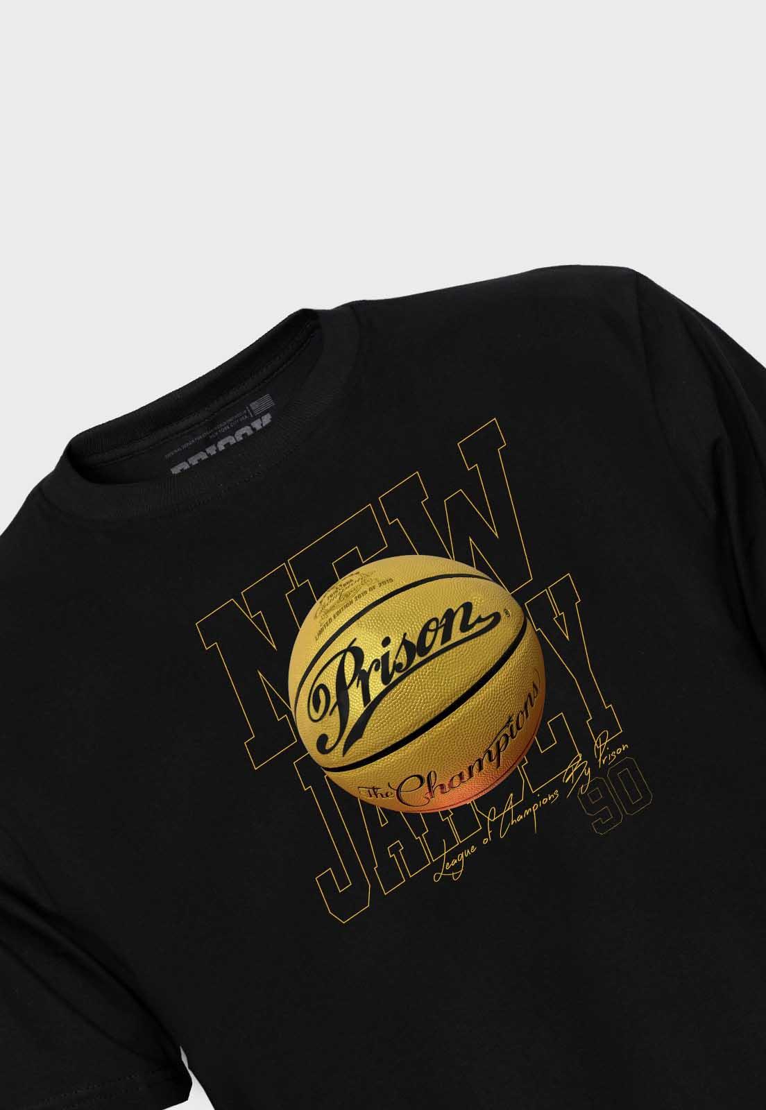 Camiseta Streetwear Prison New Jersey Gold Balll
