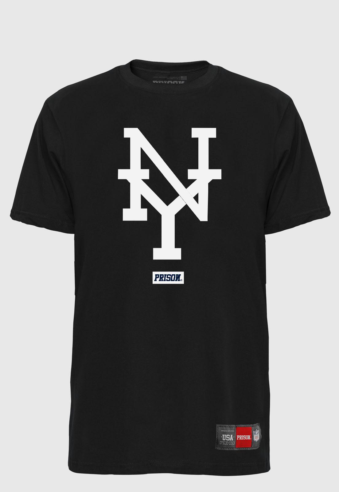 Camiseta Streetwear Prison NY Black