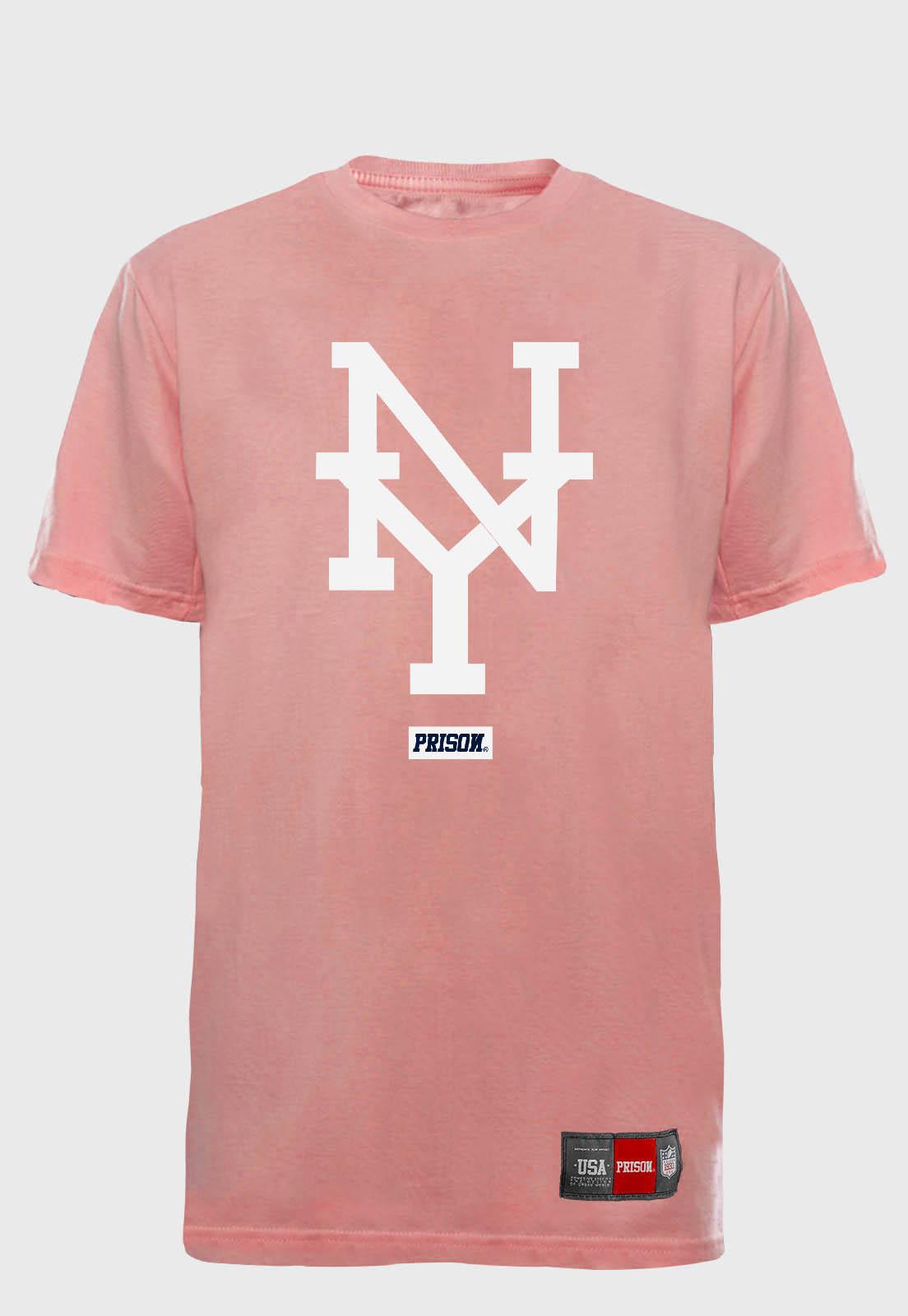 Camiseta Streetwear Prison NY PINK