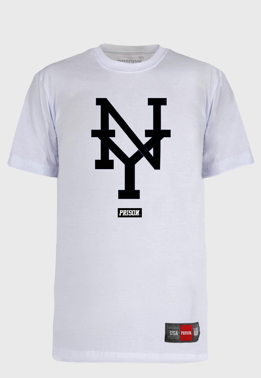 Camiseta Streetwear Prison NY White