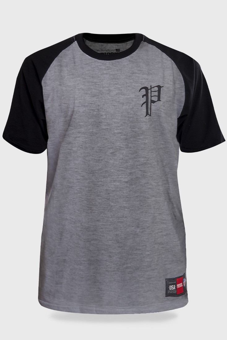 Camiseta Streetwear Prison Retro Raglan Mescla