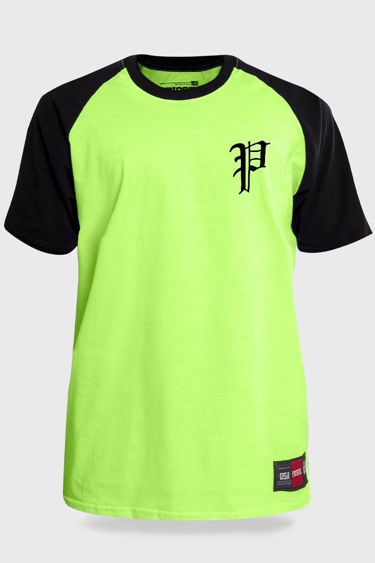 Camiseta Streetwear Prison Retro Raglan Verde