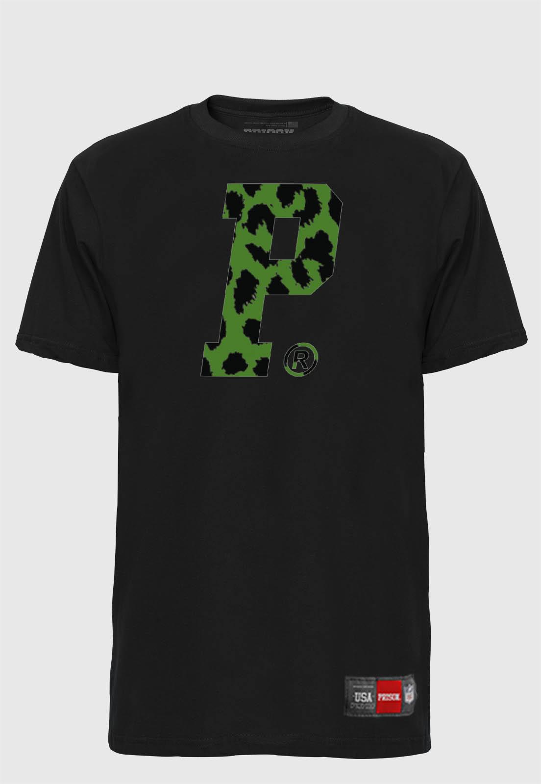 Camiseta Streetwear Prison Savage P Green