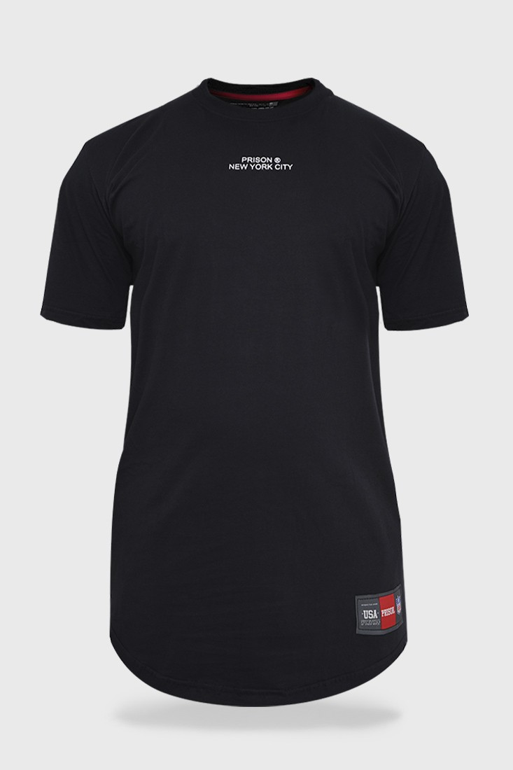 Camisa Longline Preta New York Prison