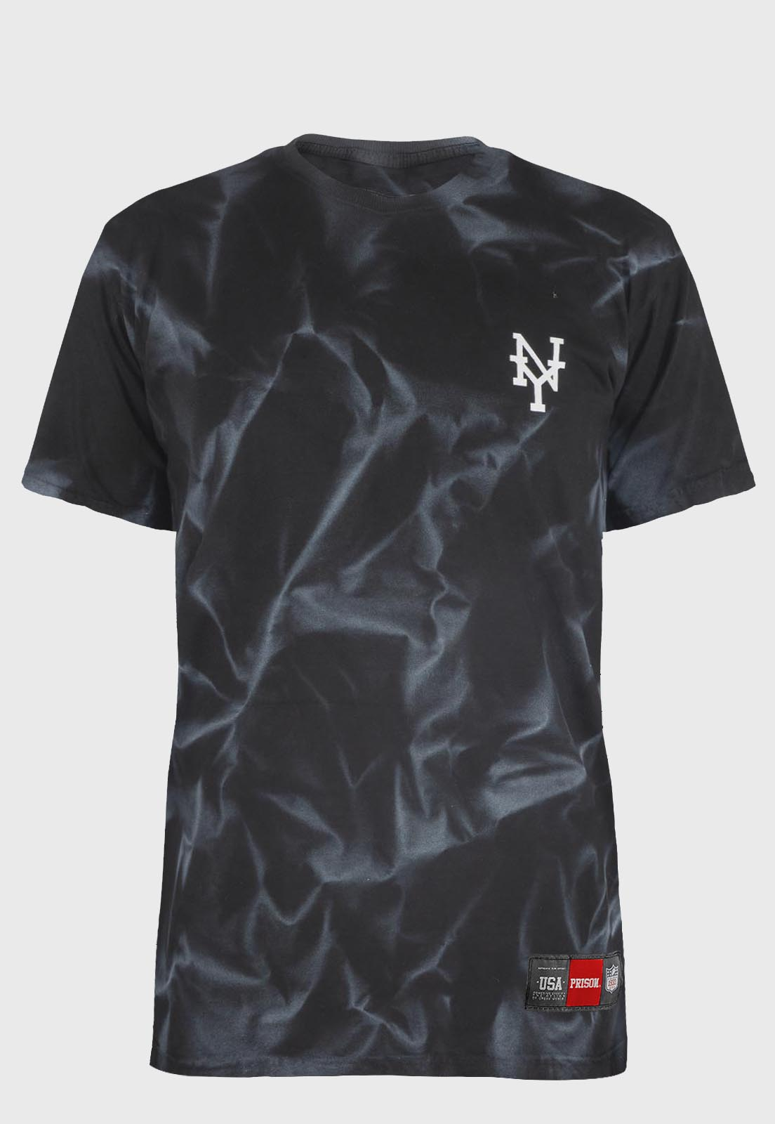 Camiseta streetwear Prison Tie-dye Black