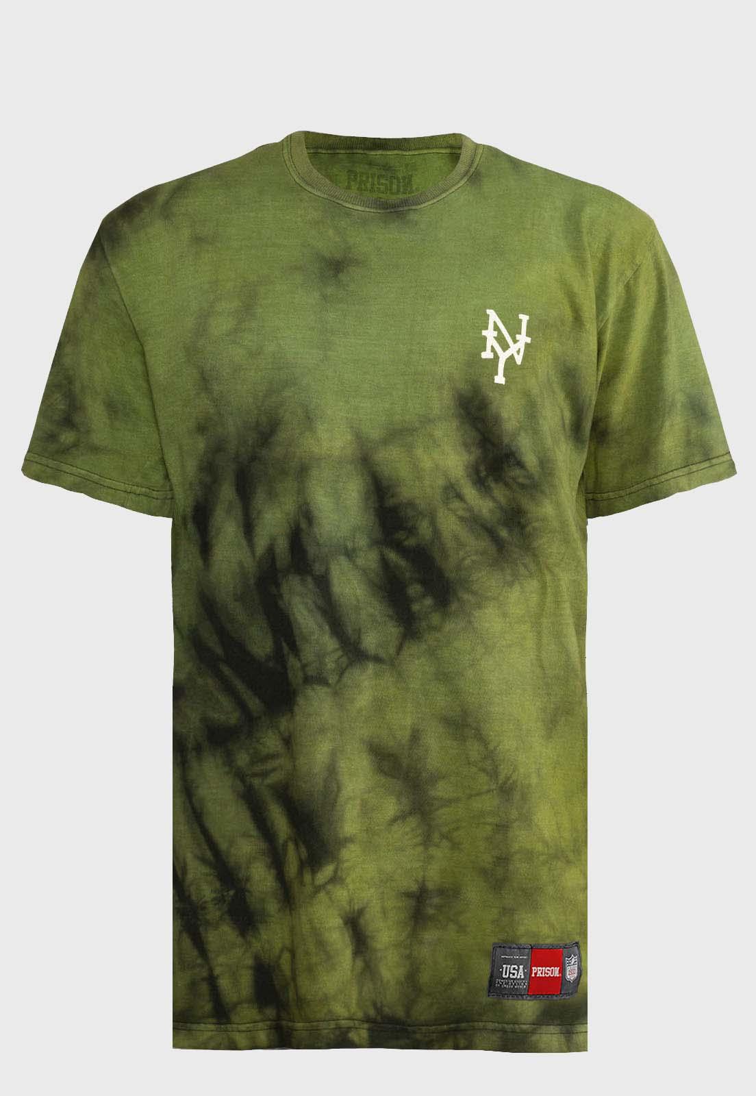Camiseta streetwear Prison Tie-dye Green
