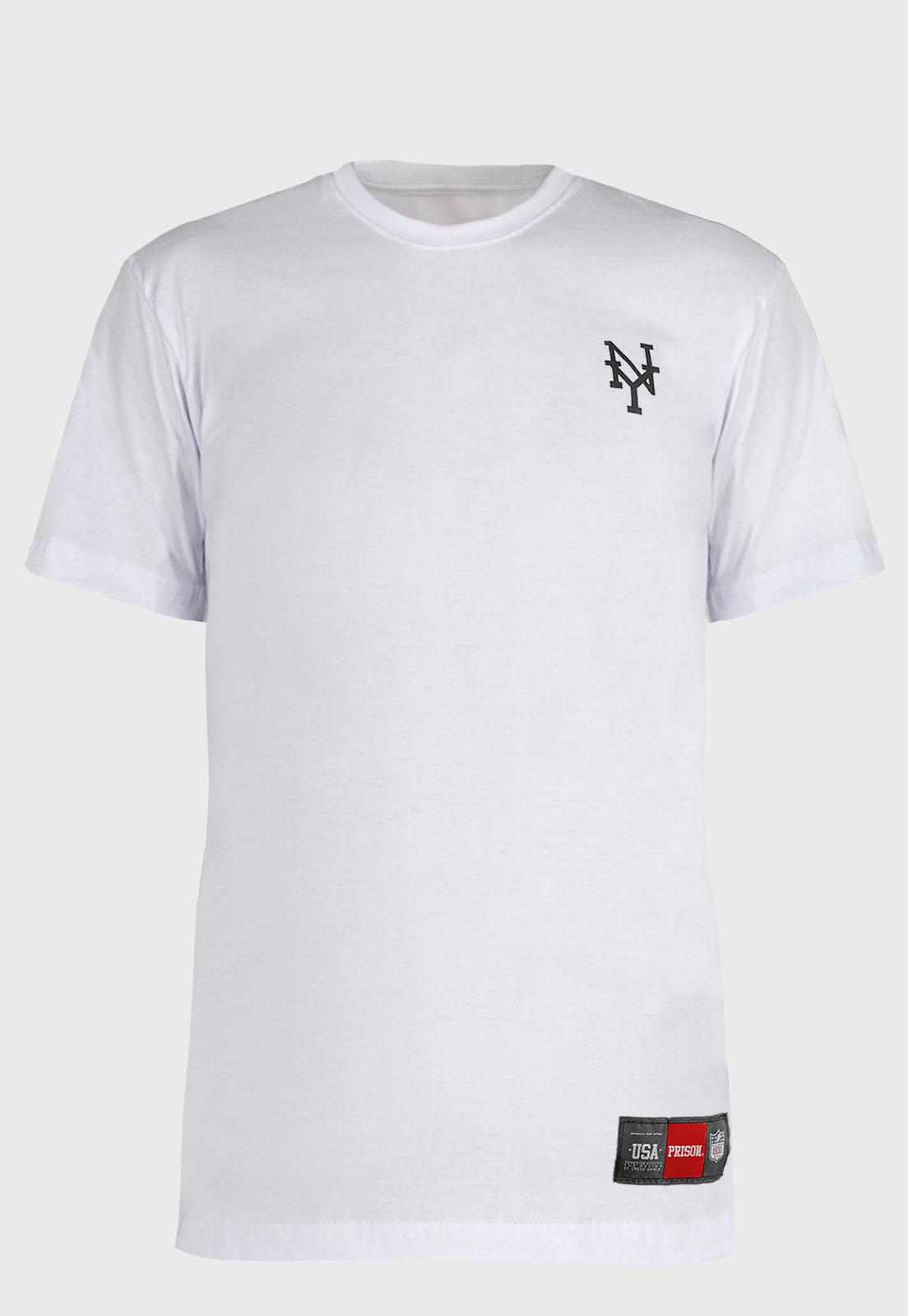 Camiseta streetwear Prison Tie-dye NY White