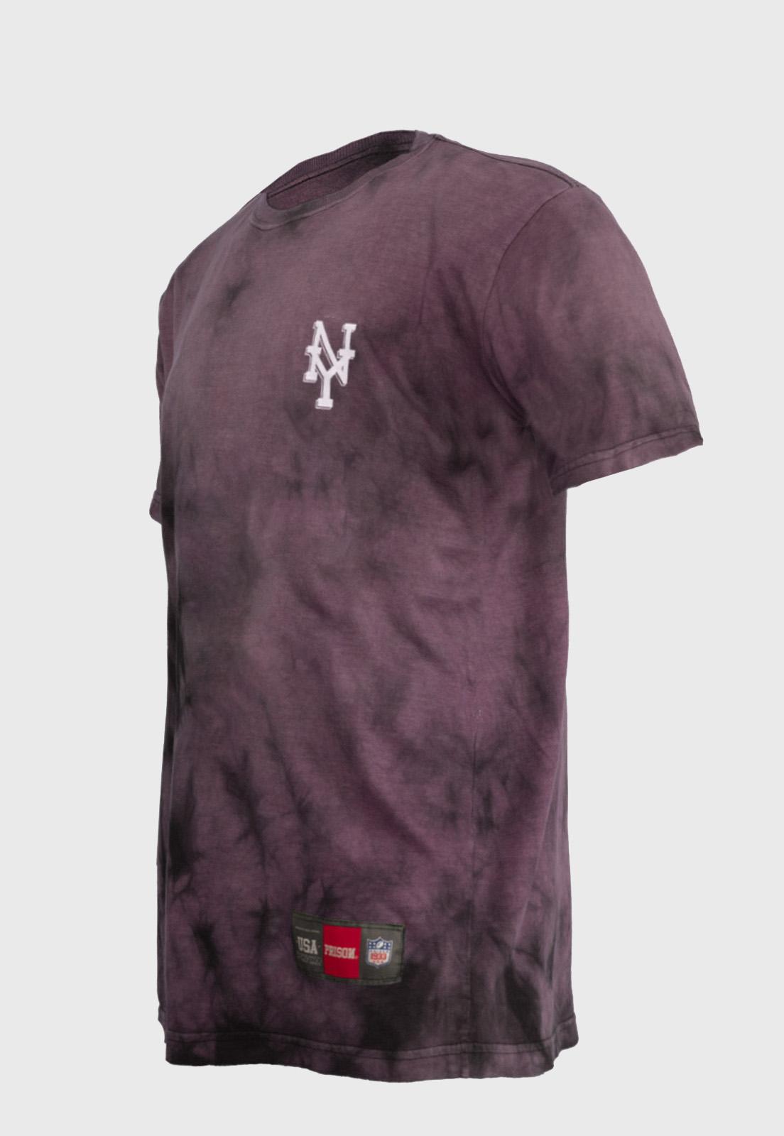 Camiseta streetwear Prison Tie-dye Vinho