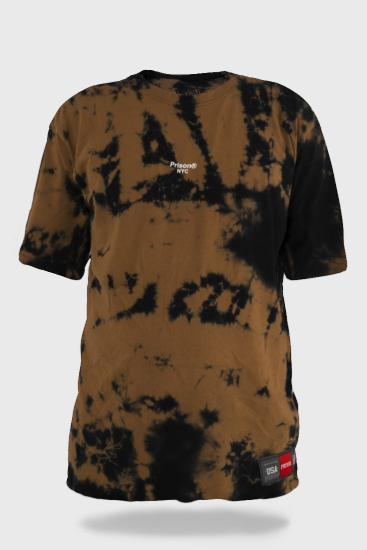Camiseta Tie Dye Prison Brown Mist Nyc