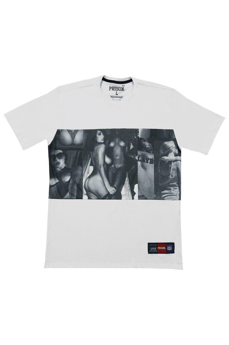 Camiseta Wild Girls Prison Branca