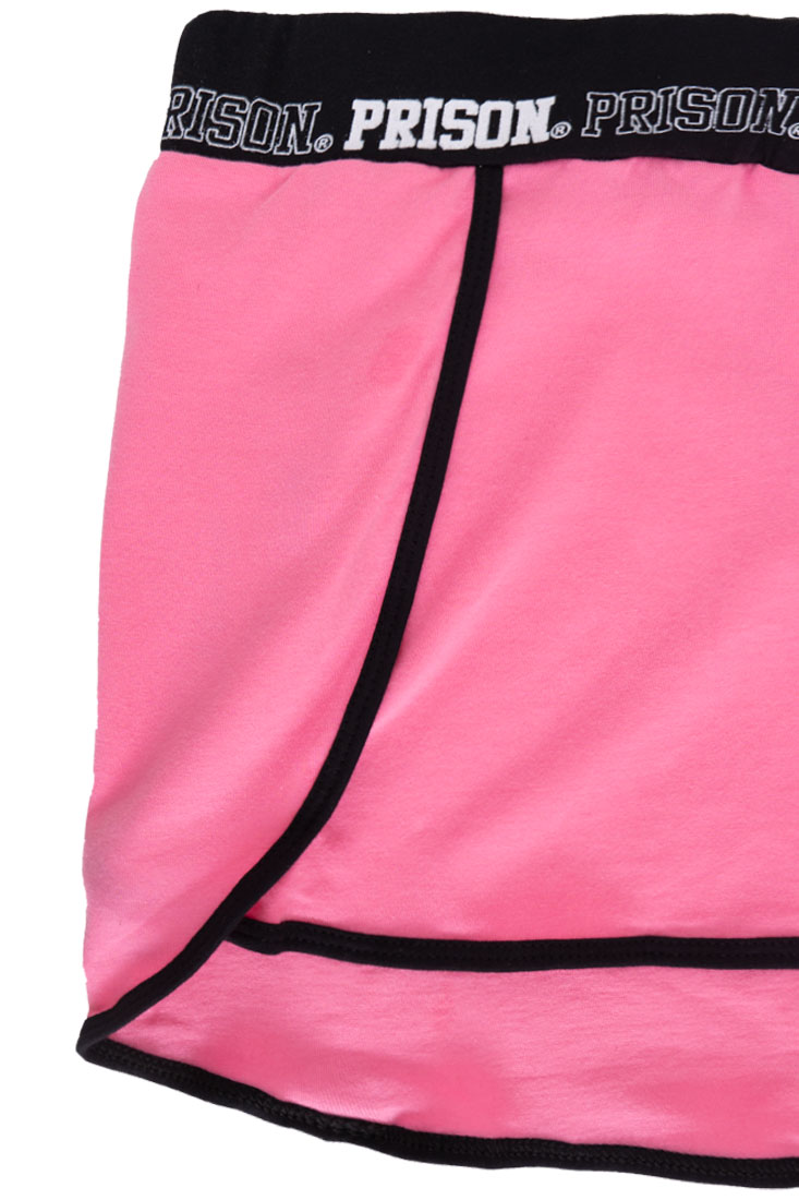 Shorts Feminino Streetwear Comfort Way Black Pink
