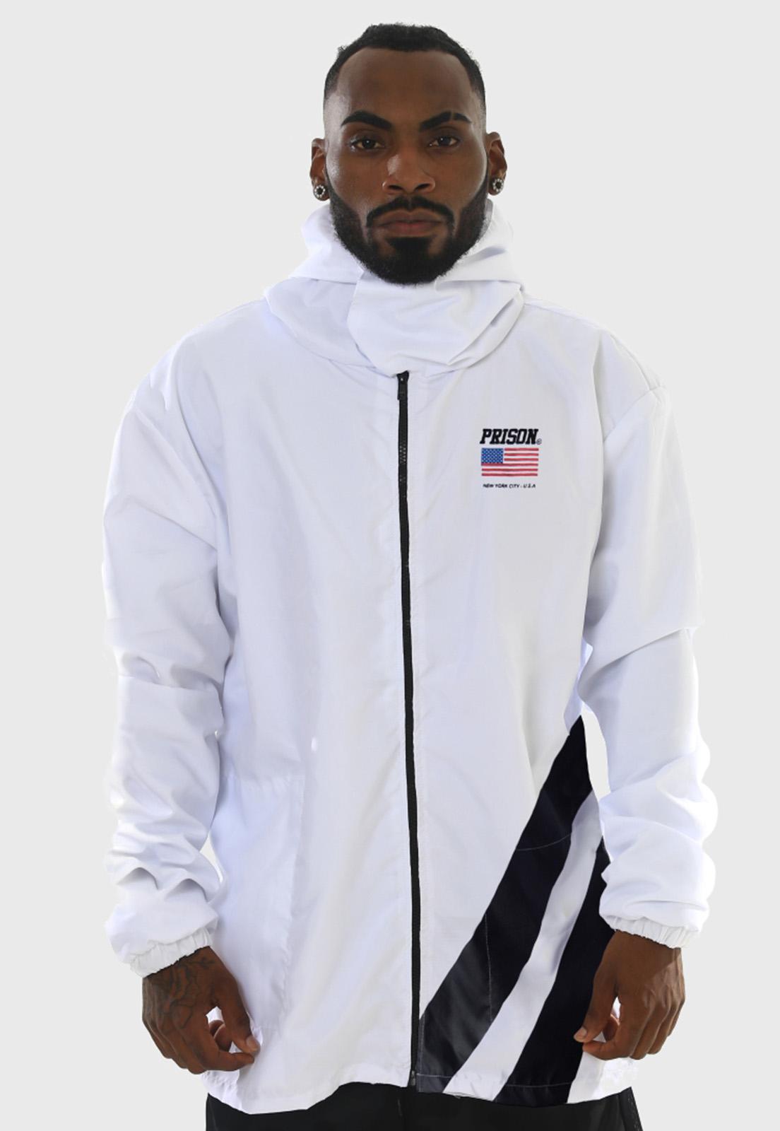 Corta Vento Prison Streetwear NYC com Listras