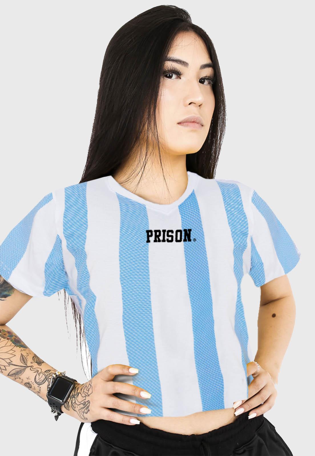 Cropped Prison Listrada Long Blue