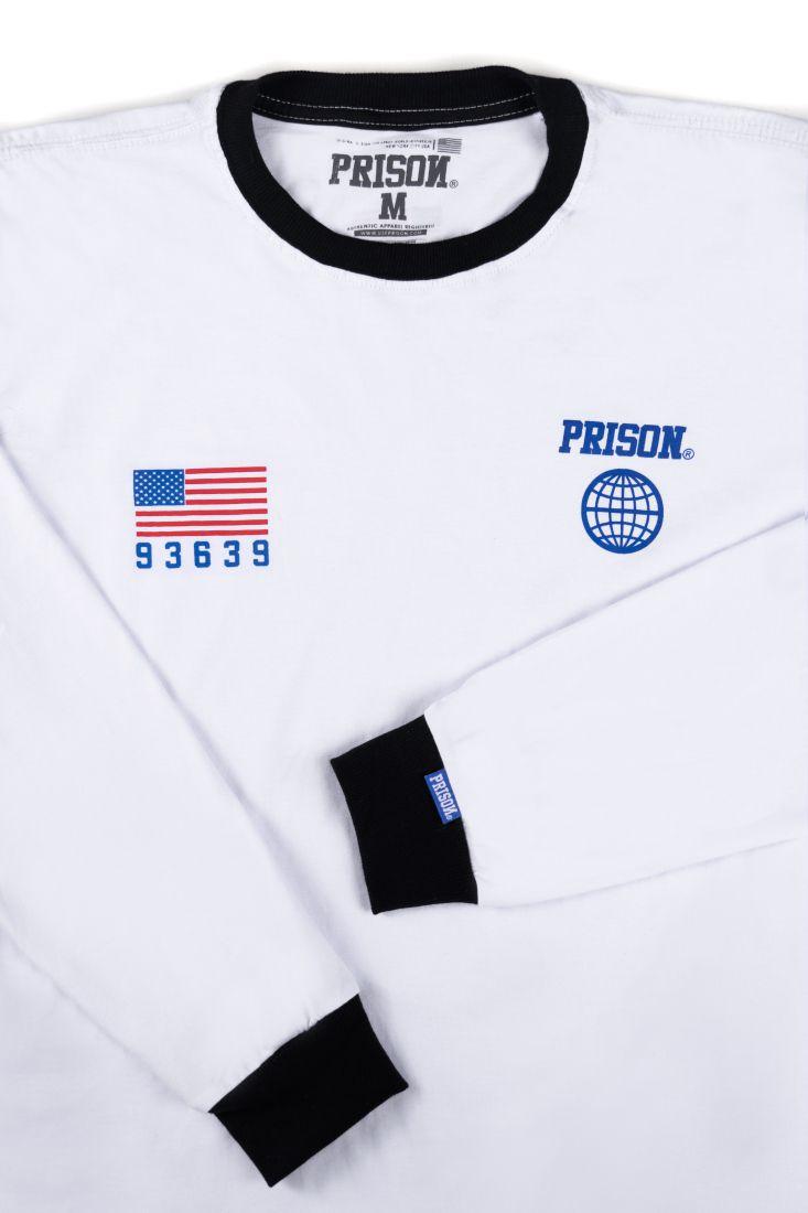 Camiseta Manga Longa Prison New York 97 Branca