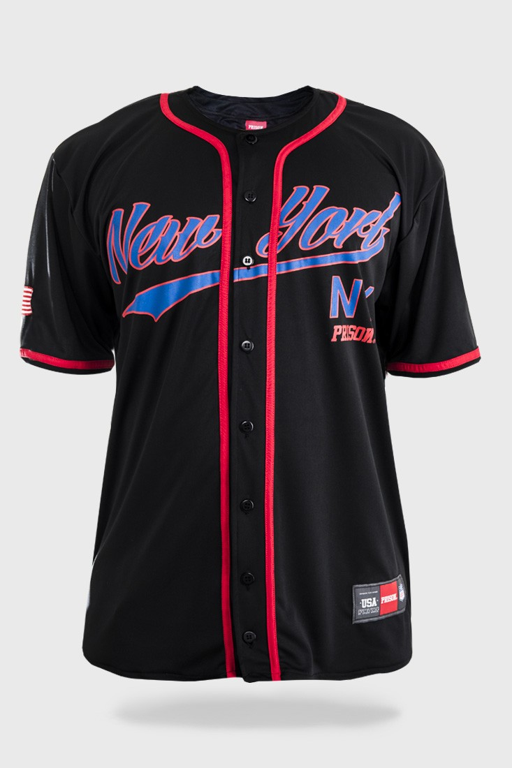 Camisa de Baseball Prison The New York Preta