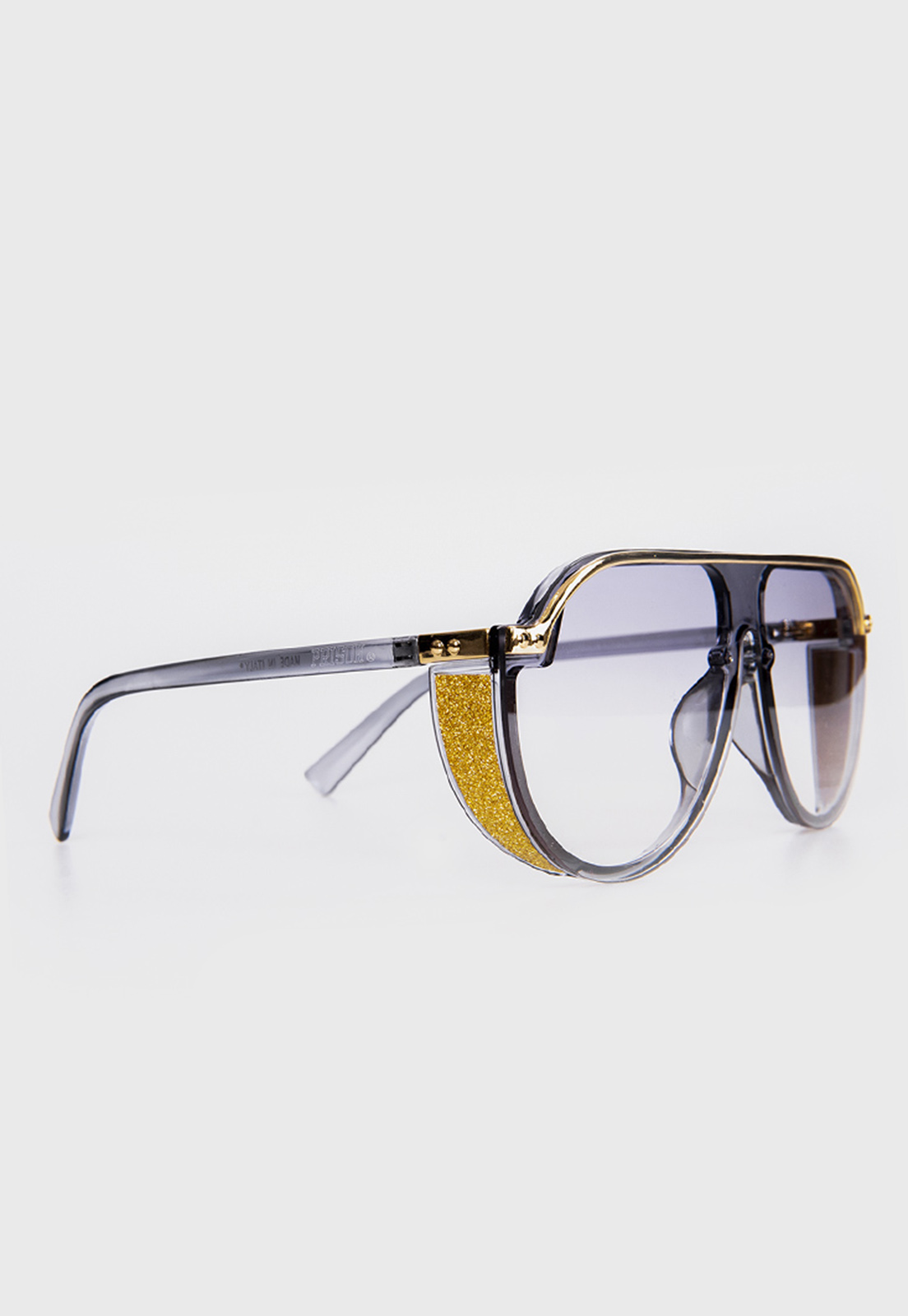 Óculos de sol Aviador redondo Prison El Patron Cinza Degrade