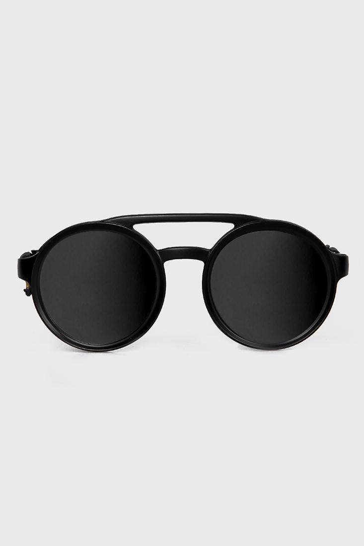 Óculos de Sol Redondo Espelhado Prison Future Soldier Preto