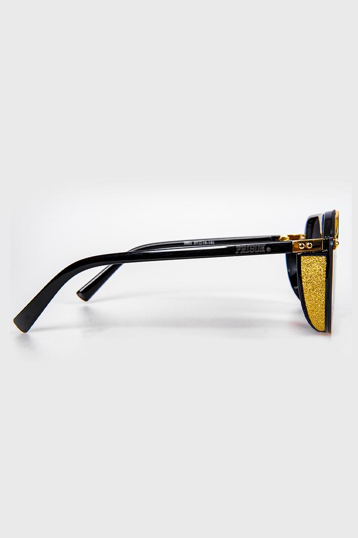 Óculos de sol Aviador redondo Prison El Patron Preto Degrade