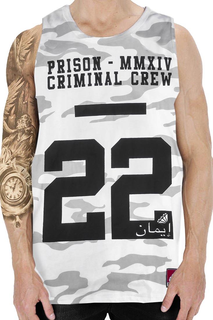 Regata Camuflada Criminal Prison Branca
