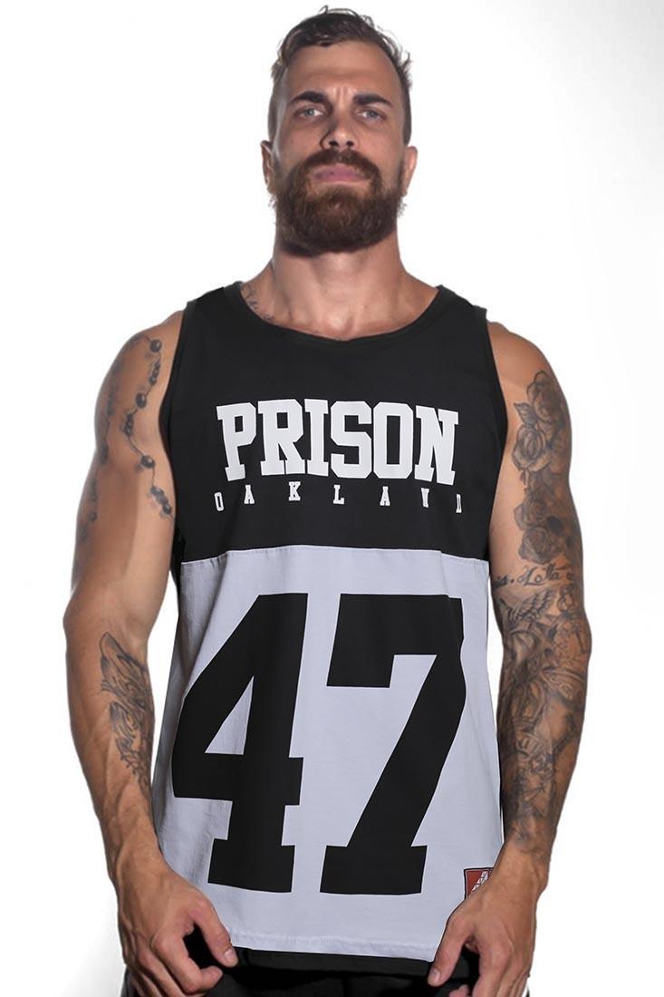 Regata Swag Masculina Prison Preta