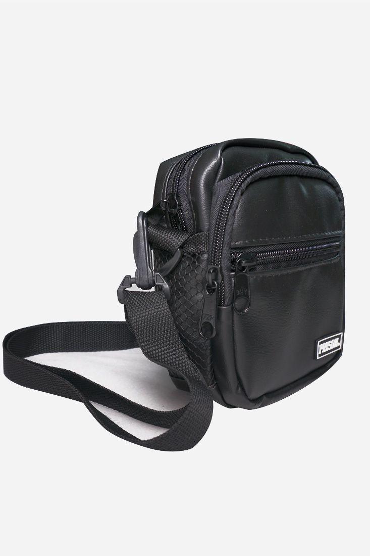 Shoulder Bag Prison Black Deluxe - Preto Couro