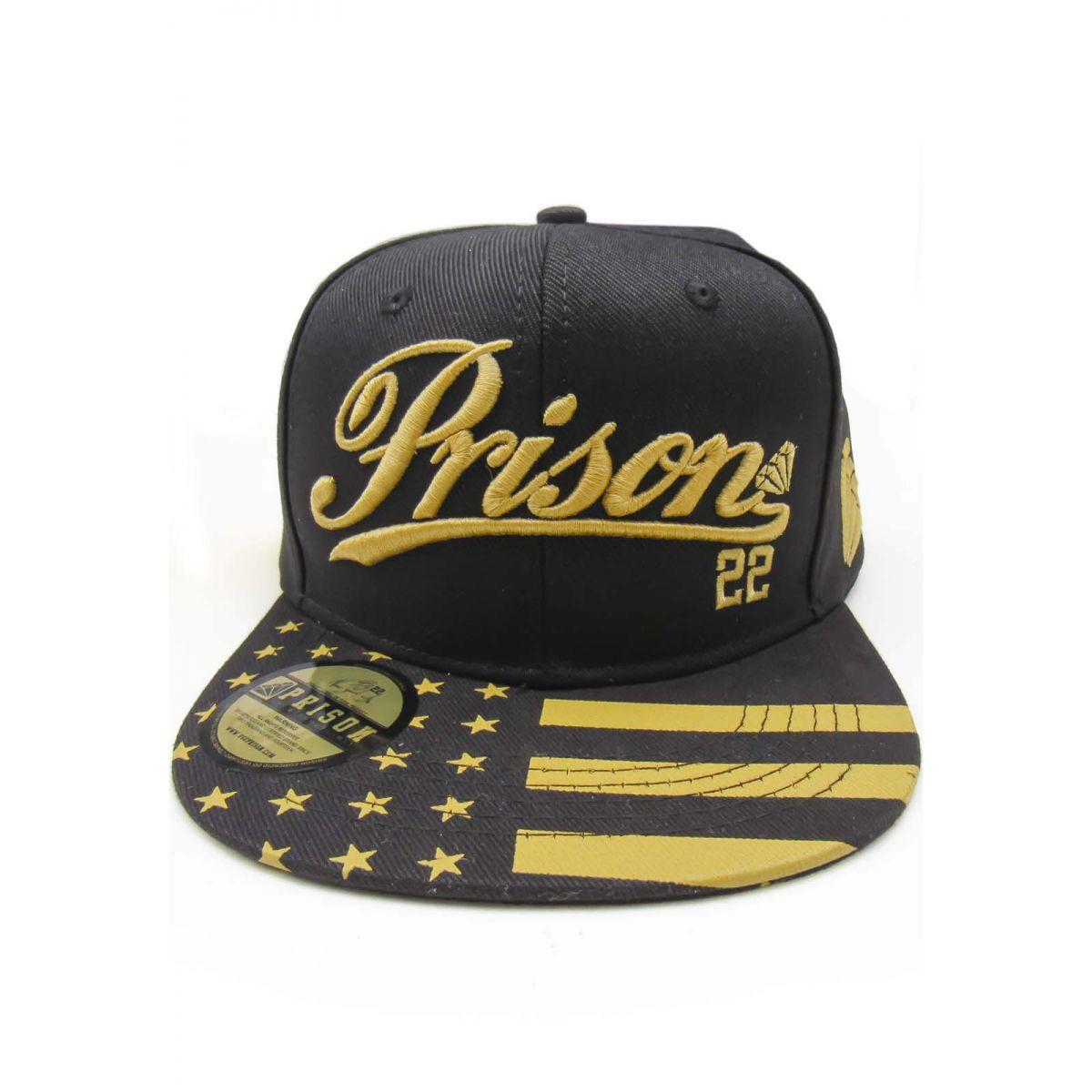 Boné snapback Prison American Gold