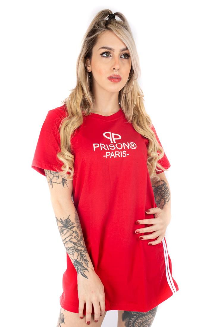 Vestido feminino Prison Paris vermelho