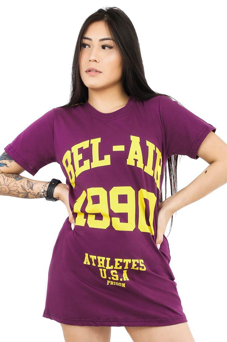 Vestido Streetwear Prison Feminino Bel Air Roxo