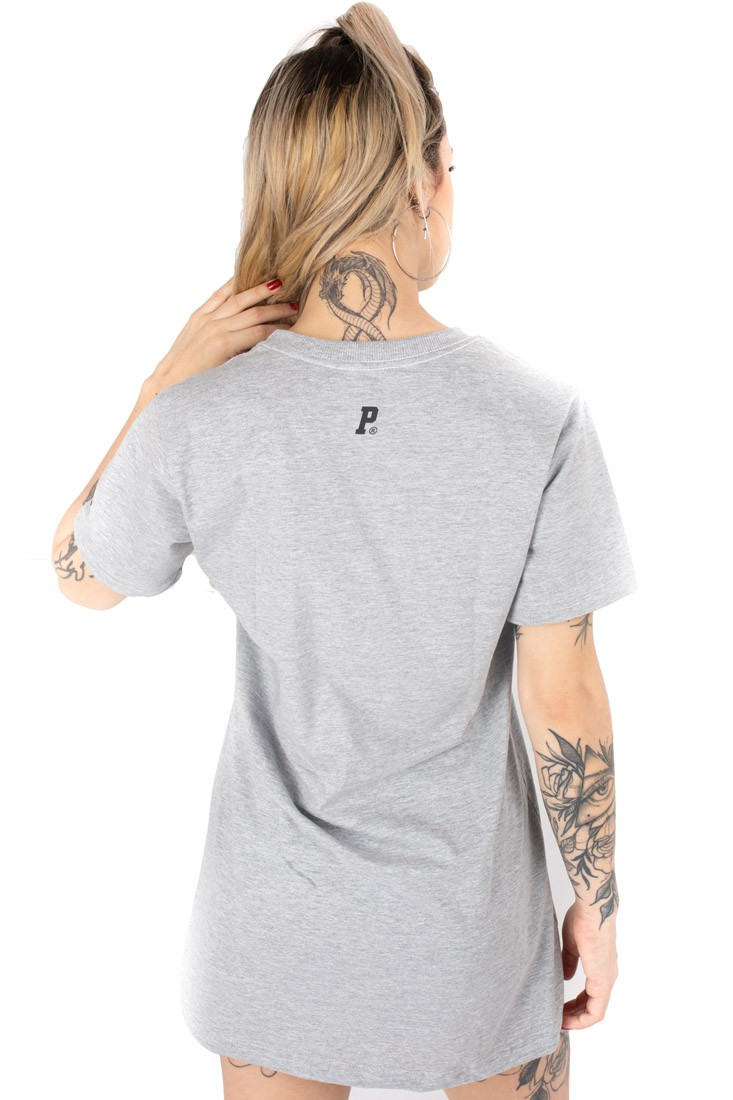 Vestido Streetwear Prison Feminino Gangster Bear  Cinza