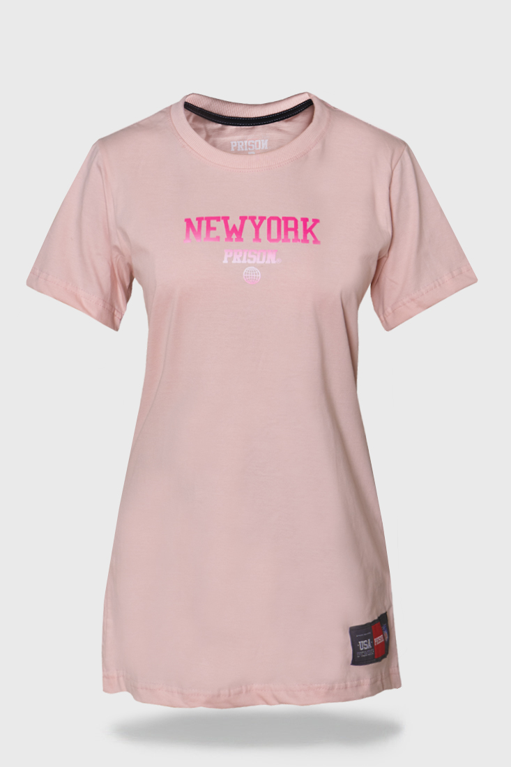Vestido Streetwear Prison Feminino New York Rosa