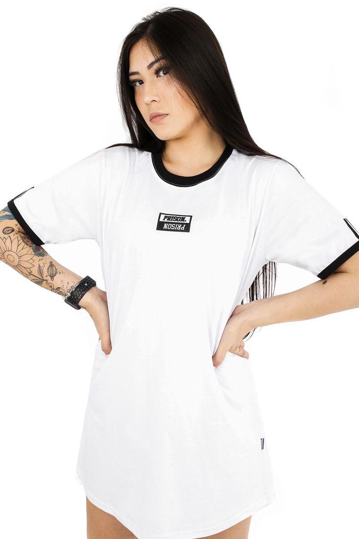Vestido Streetwear Prison Feminino Premium Branco