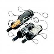 Adega Caracol Para 6 Garrafas Vinho Decoração -  Aço Cromado