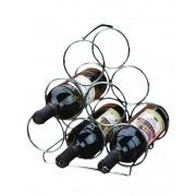 Adega Suporte Para Vinho Triangular 6 Garrafas Aço Cromado